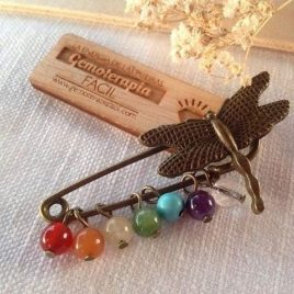 Broche libélula chakras