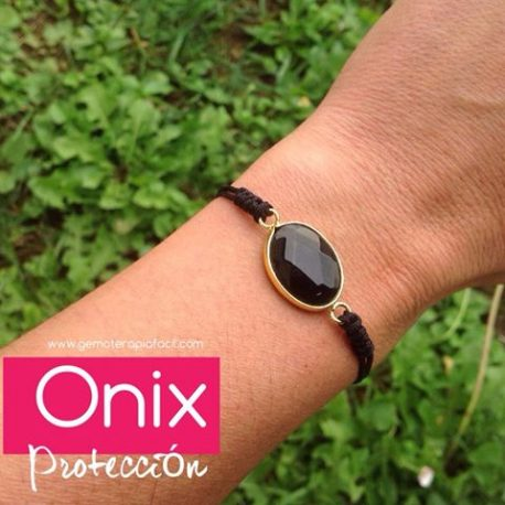 Pulsera de onix adapatable