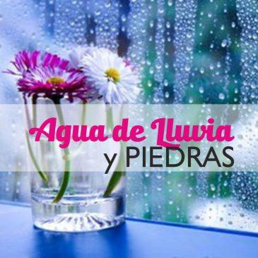 Limpia tus piedras con Agua de Lluvia