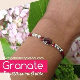 Pulsera de granate adaptable
