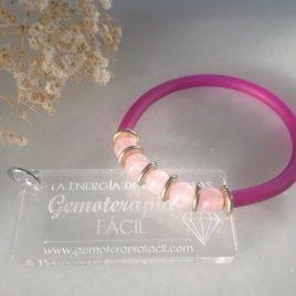 Pulsera cuarzo rosa