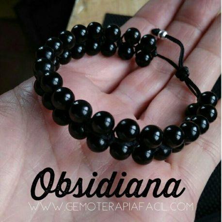 Pulsera Obsidiana Negra