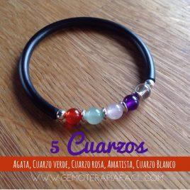 Pulsera 5 Cuarzos