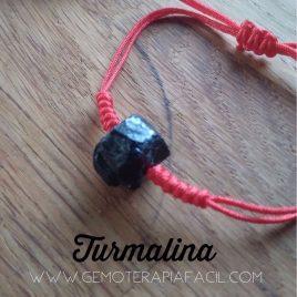 Pulsera Hilo Rojo turmalina