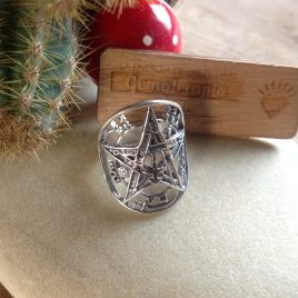 Anillo tetragramaton plata de ley