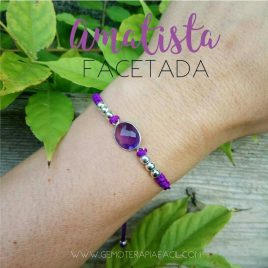 Pulsera amatista facetada