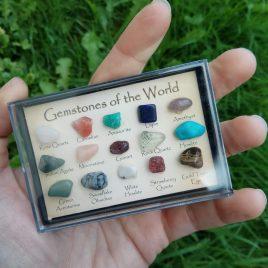Cajita colección minerales
