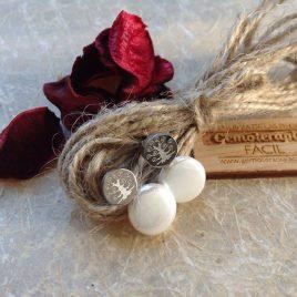 Pendientes de ártbol de la vida y perla