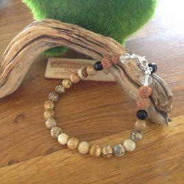 Pulsera jaspe madera