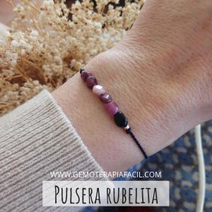 Pulsera rubelita turmalina rosa