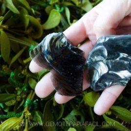 obsidiana en bruto