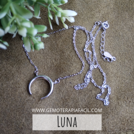 Luna gargantilla plata de ley
