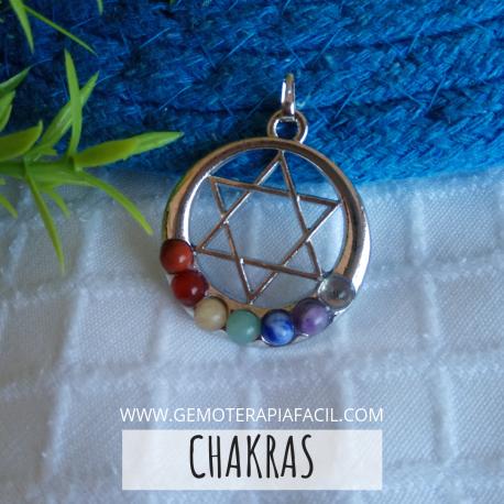 Pentagrama chakras colgante