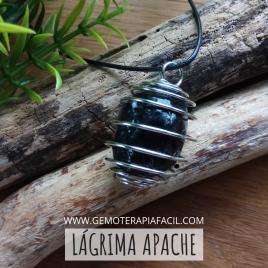 Obsidiana Lágrima apache colgante