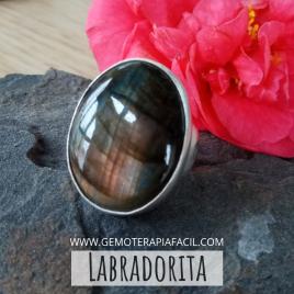 Labradorita anillo