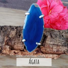 Agata rodaja anillo