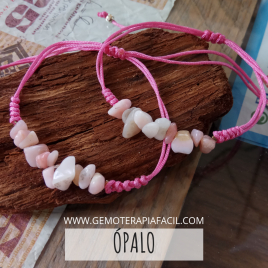 Opalo rosa pulsera