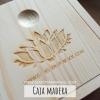 Caja de madera para minerales