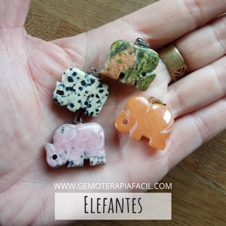 Colgante elefante piedra