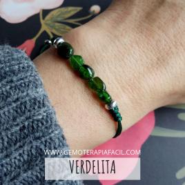 Turmalina verde pulsera