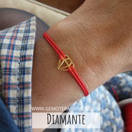 Pulsera diamante hilo rojo