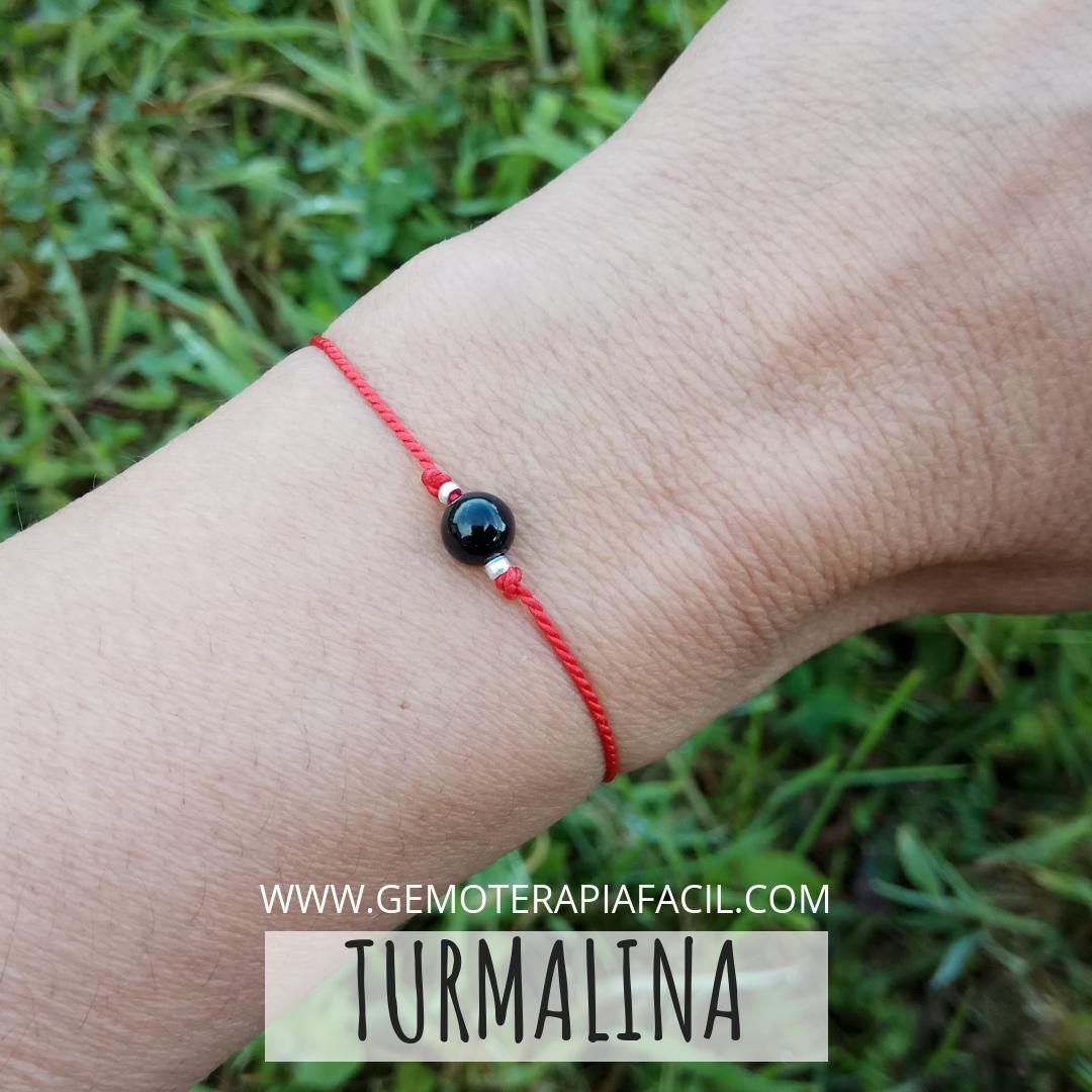 nuevo concepto 0777d 71ccc Pulsera turmalina negra hilo rojo