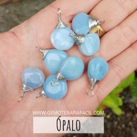 colgante opalo azul