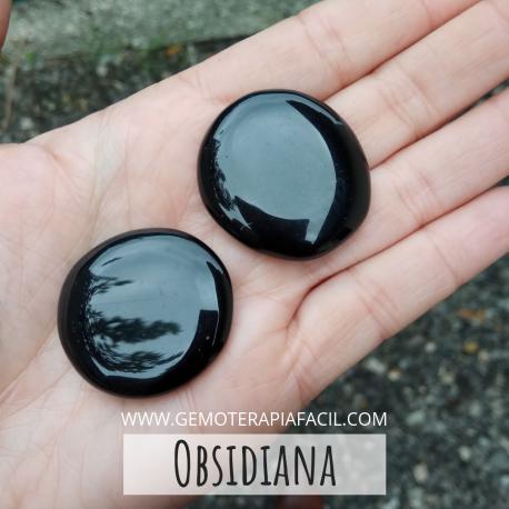 obsidiana negra rodado
