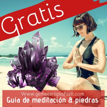 Guía de meditación con piedras