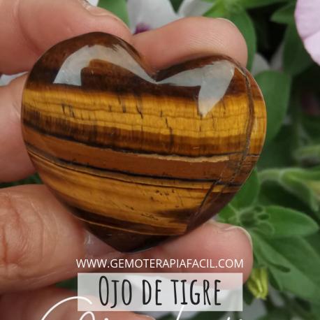 Corazón ojo de tigre