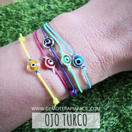 pulsera ojo turco elástica de colores