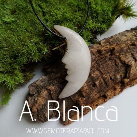 colgante luna agata blanca