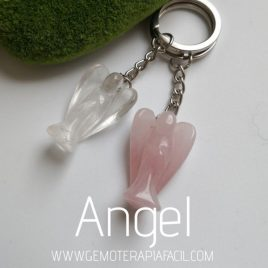 llavero angel cuarzo