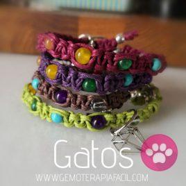 collar gatos cuarzos