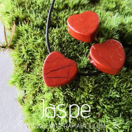 colgante corazón japse rojo