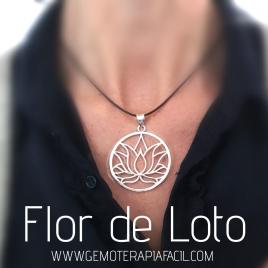 Colgante flor de loto plata de ley