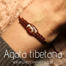 pulsera agata tibetana