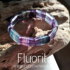 pulsera fluorita elástica