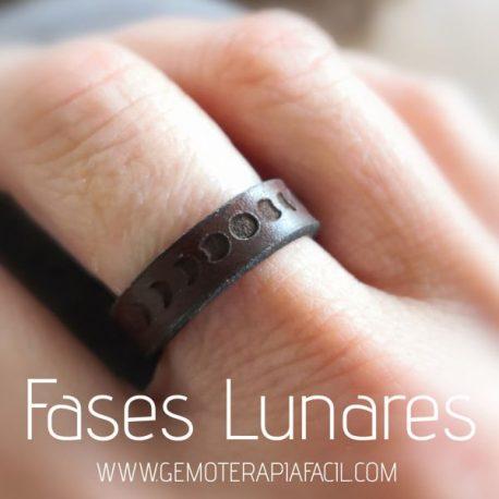 anillo fases lunares cuero gemoterapia facil