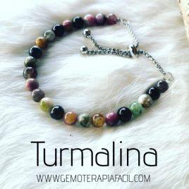 pulsera turmalina multicolor