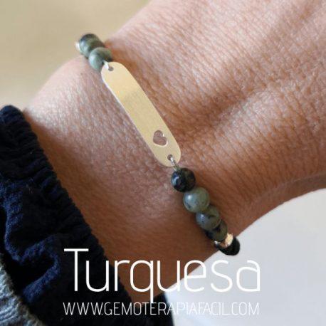 pulsera turquesa natural