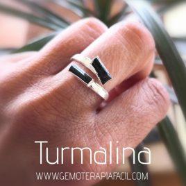 anillo de turmalina negra gemoterapia facil