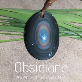 colgante obsididana arco-iris gemoterapia facil