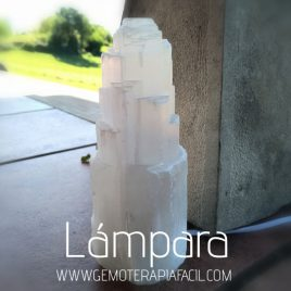 lámpara de selenita gemoterapia facil