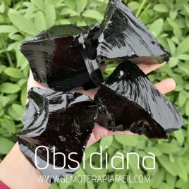 obsidiana natural bruto gemoterapia facil