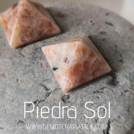 pirámide piedra sol natural gemoterapia facil