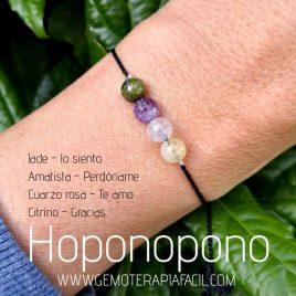 pulsera hoponopono piedra natural gemoterapia facil