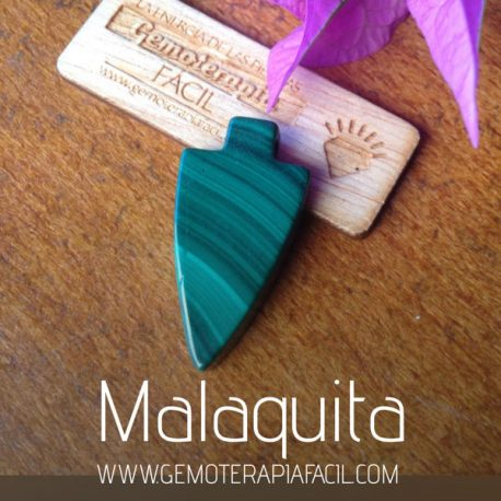 colgante flecha malaquita, gemoterapia facil