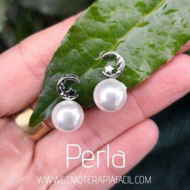 pendientes luna perla gemoterapia facil