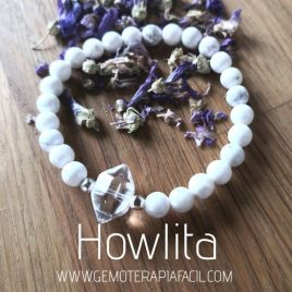 pulsera howlita cuarzo blanco gemoterapia facil